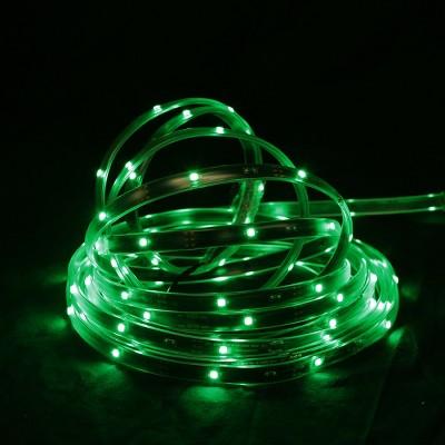 Northlight 18' Green LED Outdoor Christmas Linear Tape Lighting - Black Finish
