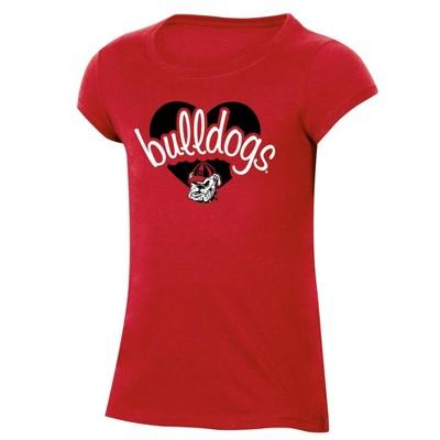 NCAA Georgia Bulldogs Girls' Short Sleeve Scoop Neck T-Shirt