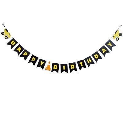 Construction Happy Birthday Banner - Spritz™