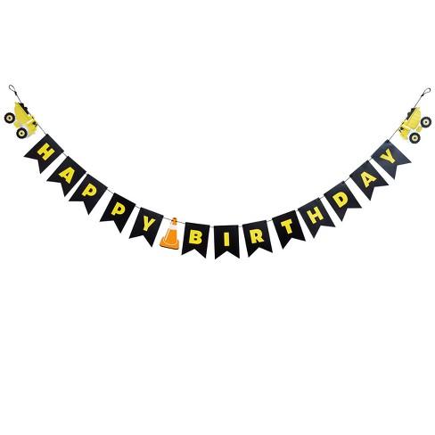 Construction Happy Birthday Banner