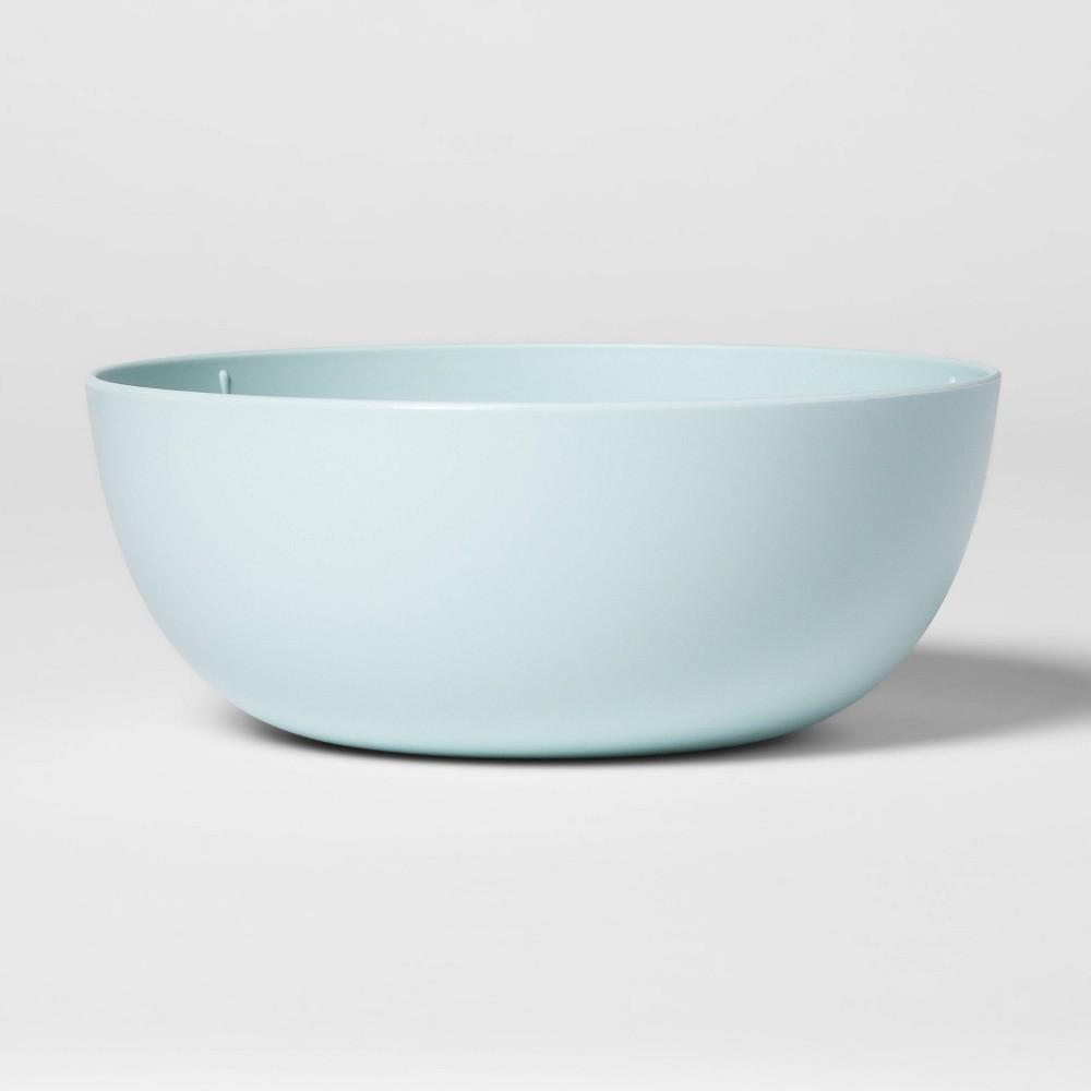 Image of 37oz Plastic Cereal Bowl Aqua - Room Essentials