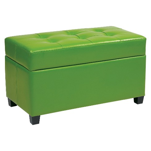 Metro Storage Ottoman Green - Office Star - image 1 of 1