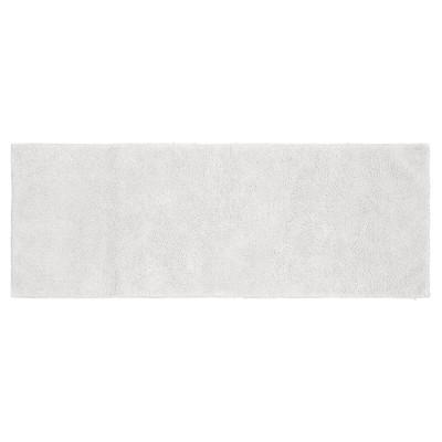 """22""""x60"""" Queen Cotton Washable Bath Runner White - Garland"""