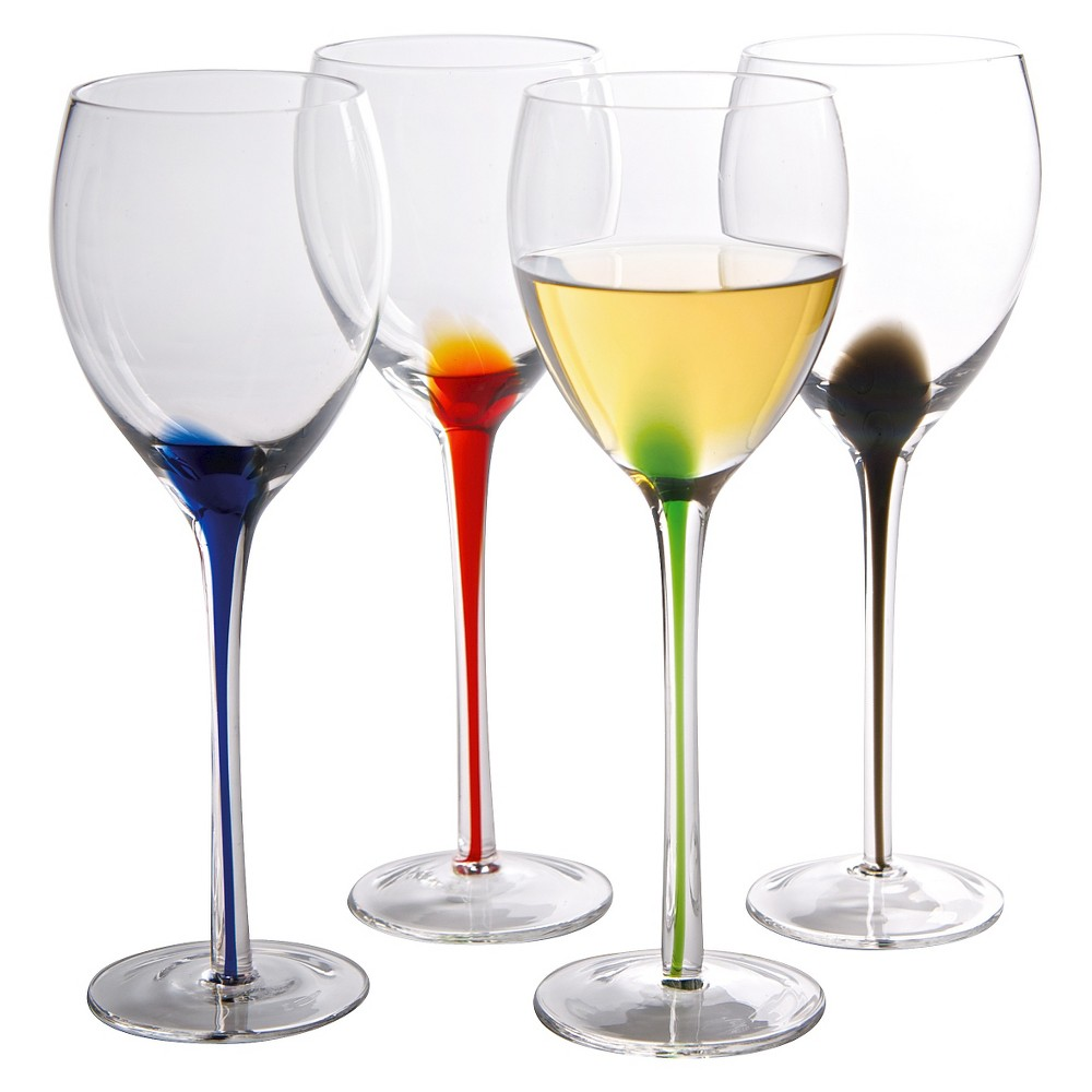 Image of Artland 11oz 4pk Glass Splash White Wine Glasses