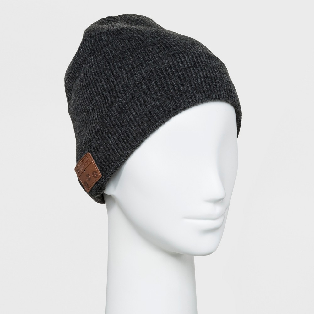 Image of Accessory Innovation Bluetooth Fleece Line Beanie - Charcoal, Almost Black