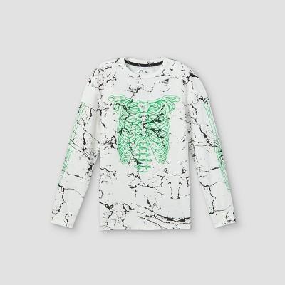 Boys' Halloween Graphic Long Sleeve T-Shirt - art class™ White