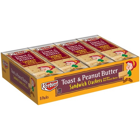 Keebler Toast & Peanut Butter Sandwich Crackers - 8ct - image 1 of 4
