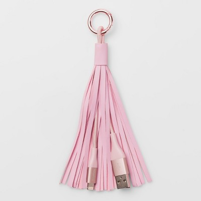 heyday™ Lightning to USB-A Cable Key Chain - Rose Gold