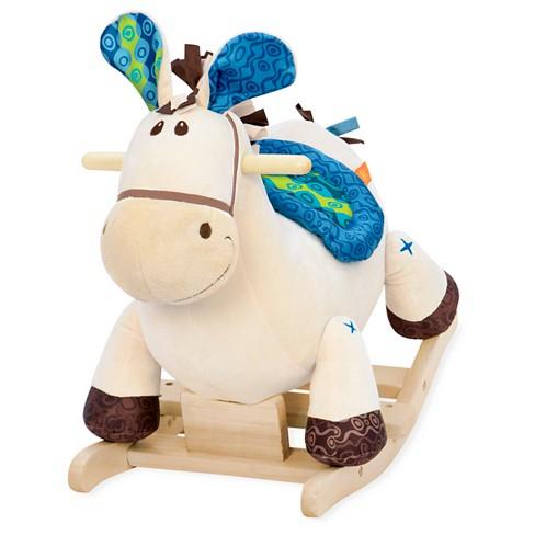 B. toys Wooden Rocking Horse Rodeo Rockers - Banjo - image 1 of 4