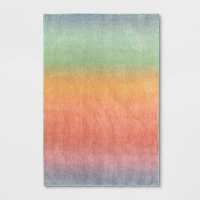 Ombre Neon Rainbow Tufted Rug - Pillowfort™