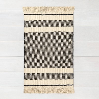 3'x5' Jute Rug Black - Hearth & Hand™ with Magnolia