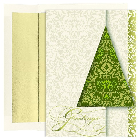16ct Greetings Green Holiday Boxed Cards - image 1 of 1