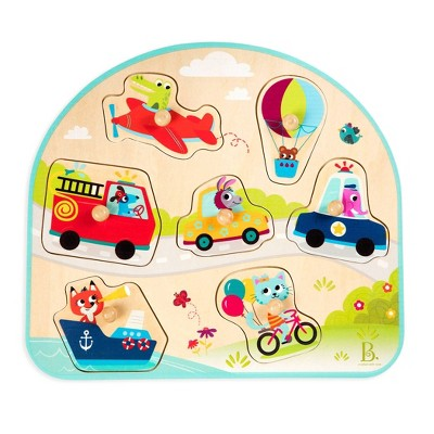 B. Vehicles on the Go Wooden Puzzle 8pc