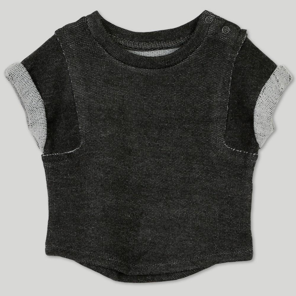 Afton Street Baby Boys' French Terry Short Sleeve T-Shirt - Gray 3-6M