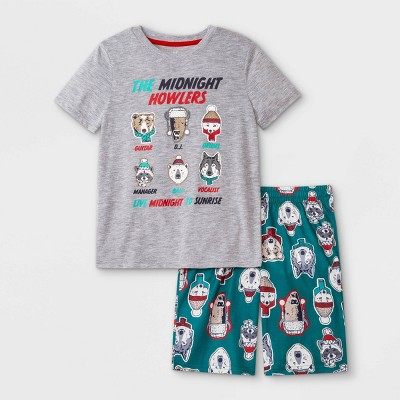 Boys' 2pc 'Midnight Howlers' Pajama Set - Cat & Jack™ Heather Gray