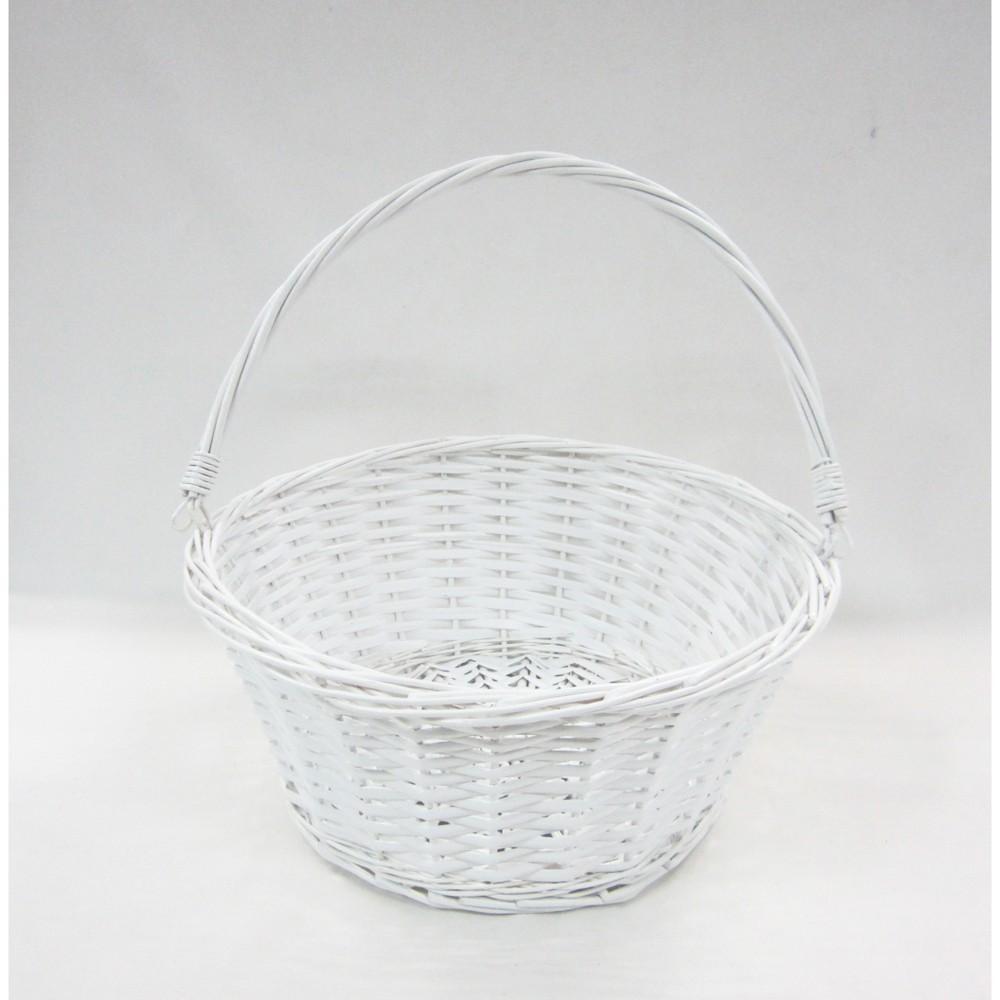 12 Willow Easter Basket White - Spritz
