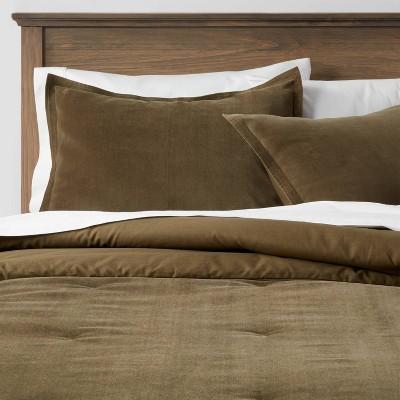 Cotton Velvet Comforter & Sham Set - Threshold™