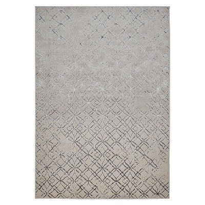 Feizy Micah Distressed Geometric Beige Area Rug