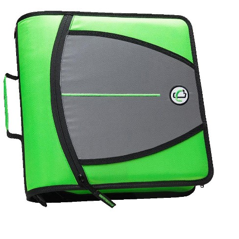 Case-it Mighty Zip Tab O-Ring Binder, Green, 3 Inches - image 1 of 4