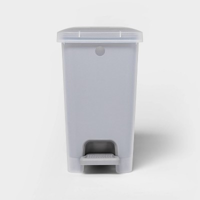 2.7gal Step Trash Can Wastebasket Gray - Room Essentials™