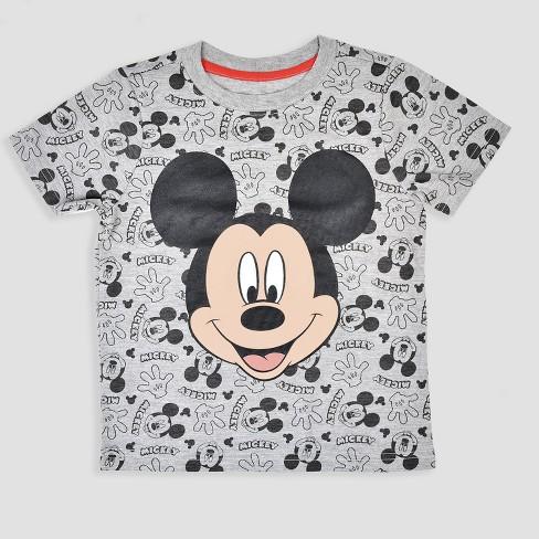 8538ddd710e Toddler Boys  3pk Disney Mickey Mouse   Friends Short Sleeve T-Shirt -  Black Red   Target