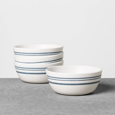 4pk Cereal Bowl Melamine Americana Blue Stripe - Hearth & Hand™ with Magnolia