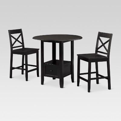 3 Piece Storage Pub Set - Black - Threshold™