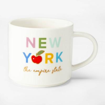 16oz Porcelain New York The Empire State Mug Cream - Threshold™