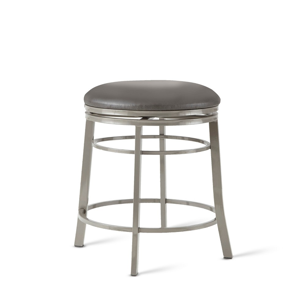 Swell 24 Milo Backless Swivel Counter Stool Gray Steve Silver Unemploymentrelief Wooden Chair Designs For Living Room Unemploymentrelieforg