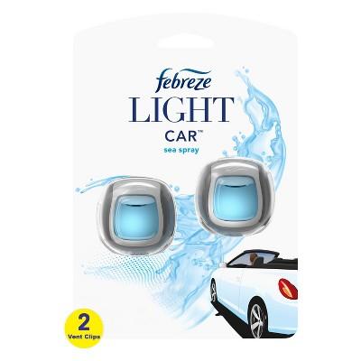 Febreze Light Car Sea Spray Air Freshener - 0.13 fl oz