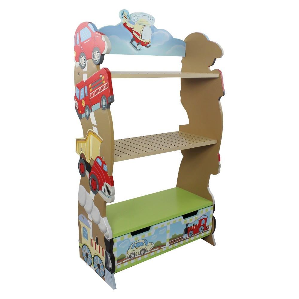 Fantasy Fields Transportation Bookshelf Wood - Teamson