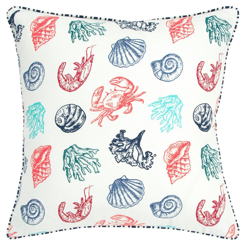 "Image of ""20""""x20"""" Animal Polyester Filled Pillow Teal - Rizzy Home"""