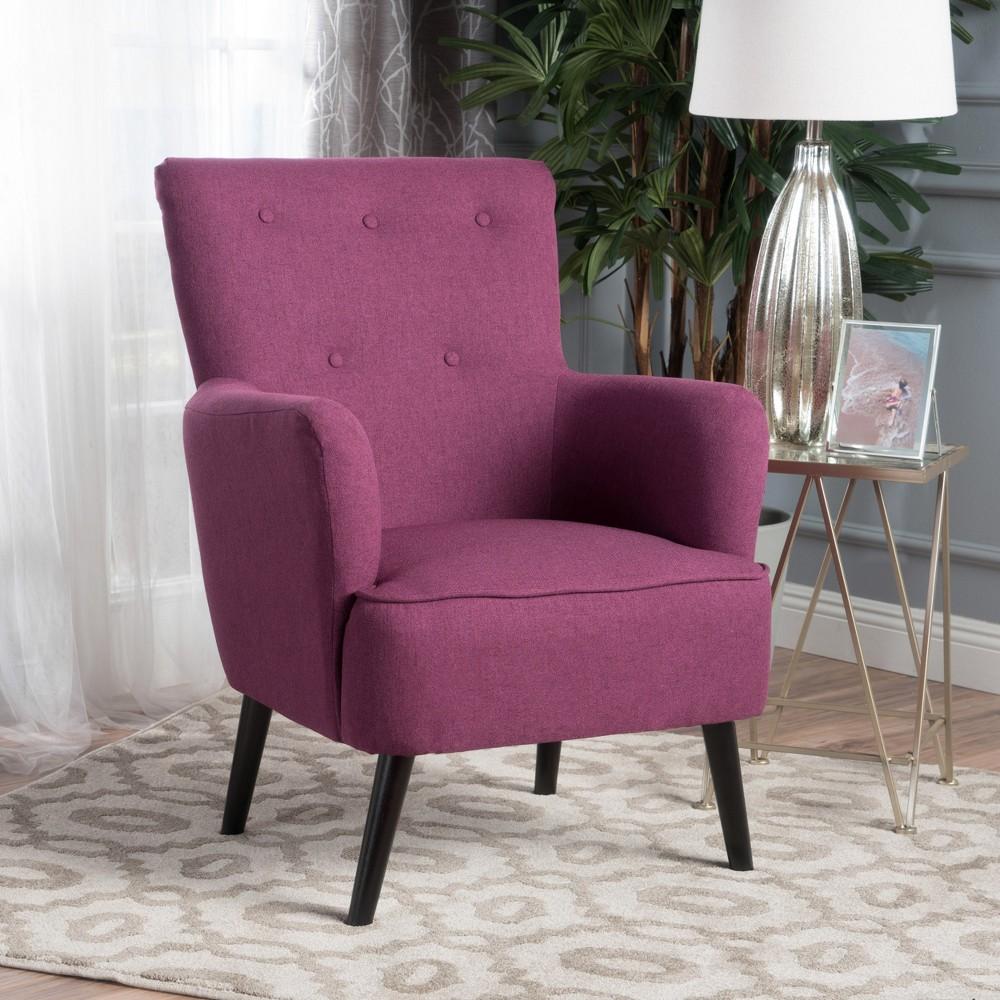 Kolin Tufted Club Chair Dark Fuchsia Pink - Christopher Knight Home