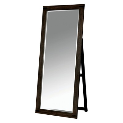 Simones Rustic Standing Mirror Wire-Brushed Rustic Brown - ioHOMES
