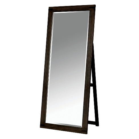 Simones Rustic Standing Mirror Wire-Brushed Rustic Brown - HOMES: Inside + Out - image 1 of 3