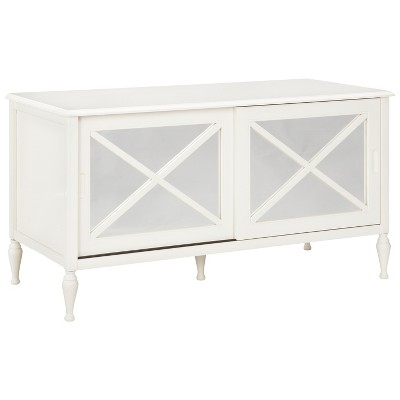 Hollywood Mirrored TV Stand - Dove White