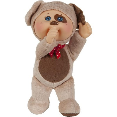 Jazwares Cabbage Patch Kids Cuties Collection, Parker the Puppy Cutie Baby Doll