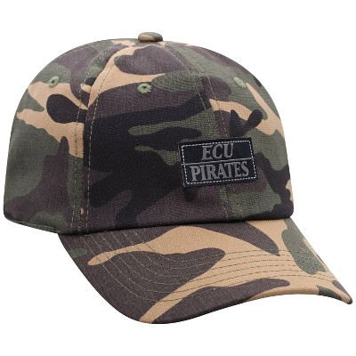 NCAA East Carolina Pirates Men's Camo Washed Relaxed Fit Hat