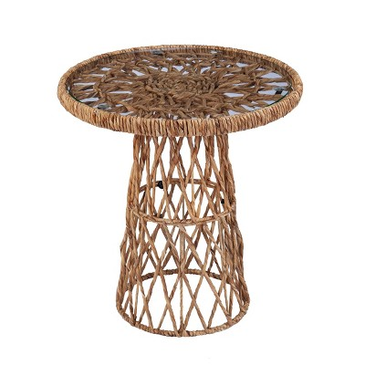 Instor Water Hyacinth Accent Table Natural - Aiden Lane