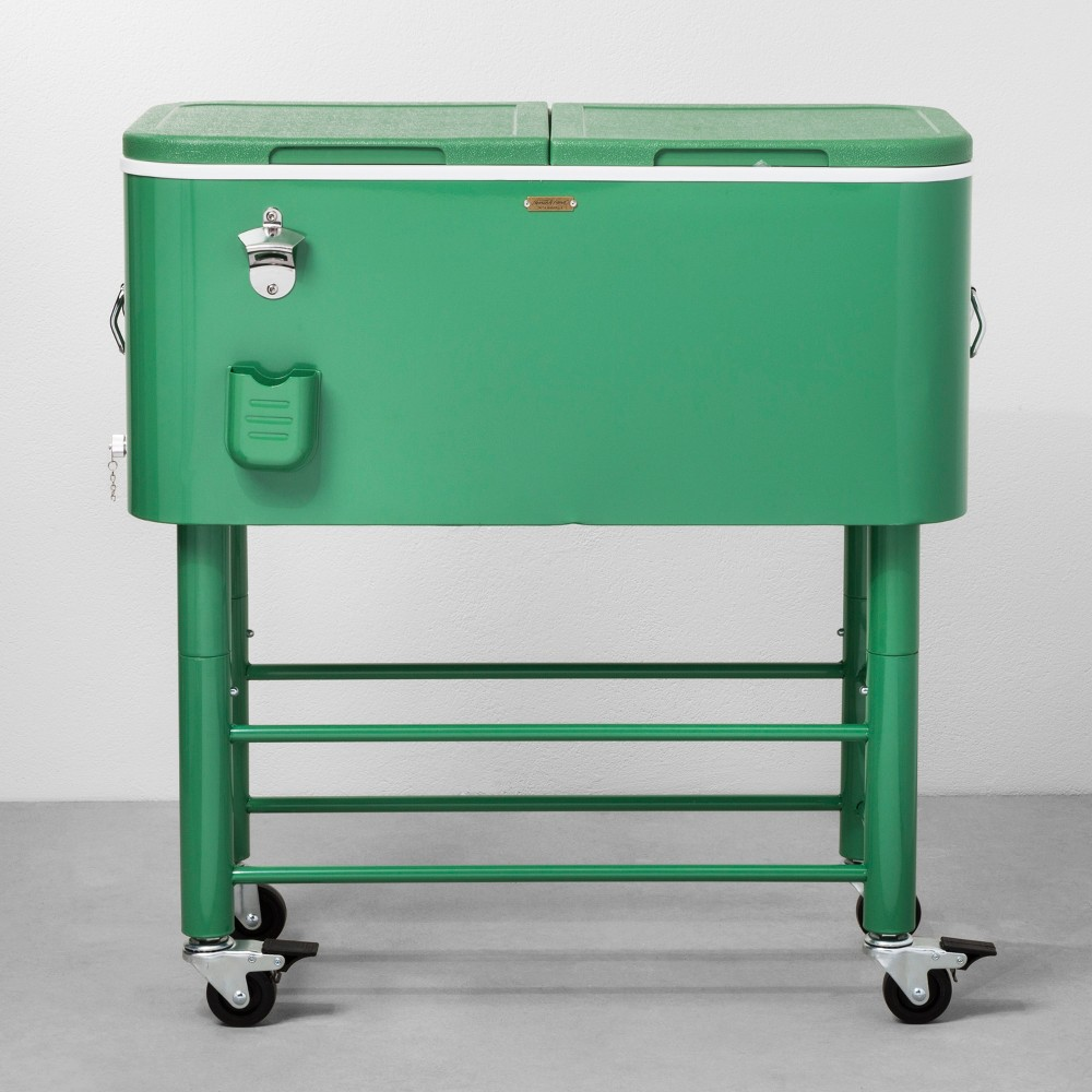 Image of 77qt Centennial Rolling Cooler Green - Hearth & Hand with Magnolia