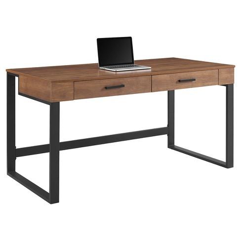 Tavia Computer Desk Light Walnut Whalen