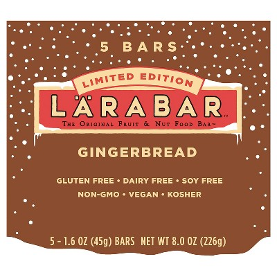 Larabar Gingerbread Nutrition Bars - 5 ct