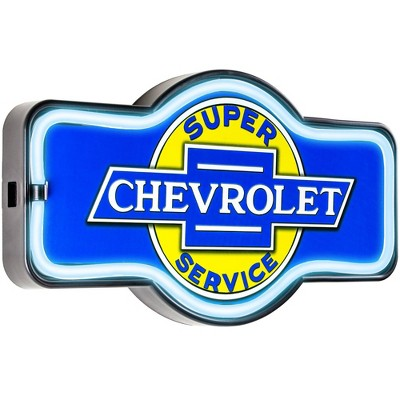 Officially Licensed Chevrolet LED Neon Light Sign Wall Decor Blue - Crystal Art Gallery