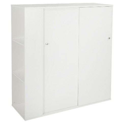 Crea Kids Storage Cabinet With Sliding Doors Pure White South