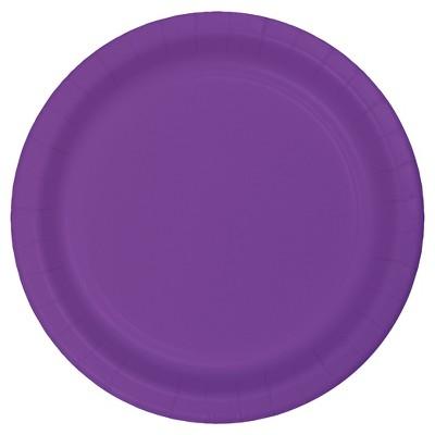 "Amethyst Purple 9"" Paper Plates - 24ct"