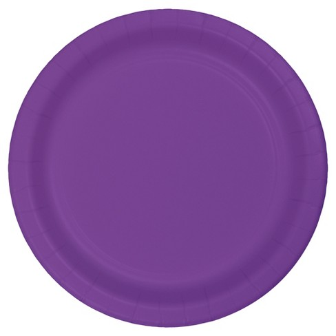 "Amethyst Purple 9"" Paper Plates - 24ct - image 1 of 2"
