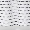 "72""x72"" Textured Striped Shower Curtain Black/White - Project 62™ - image 4 of 4"