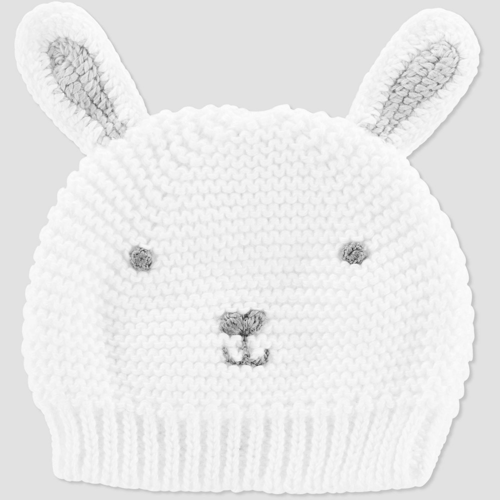Image of Baby Crochet Easter Bunny Cap - Just One You made by carter's White One Size, Kids Unisex