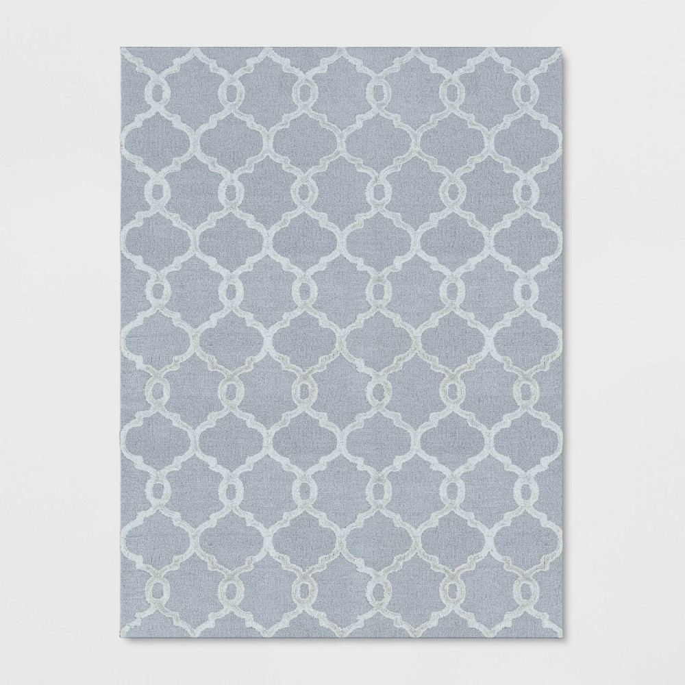 9'X12' Trellis Tufted Viscose Area Rug Gray - Opalhouse was $499.99 now $249.99 (50.0% off)