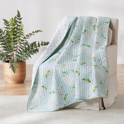 Brookwood Floral Quilted Throw - Levtex Home